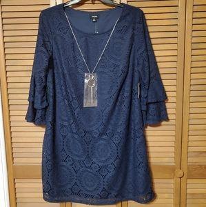Navy Blue 2x Lace Dress
